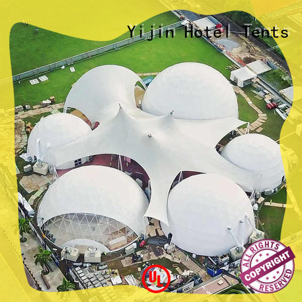 ODM event dome tent fire-retardant at discount for mountains